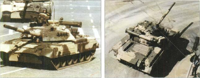 LIGHT TANKS AND MAIN BATTLE TANKS by NATO, has diesel rather than gas turbine engine, different engine decking, new commander's cupola, four smoke grenade dischargers either side of turret, different