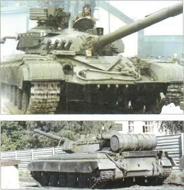 LIGHT TANKS AND MAIN BATTLE TANKS VARIANTS T-64, original model, no thermal sleeve for 115mm gun.