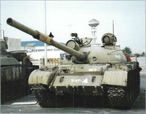 LIGHT TANKS AND MAIN BATTLE TANKS T-62MV, upgrade with capability to fire laser guided projectile, also has explosive reactive armour.