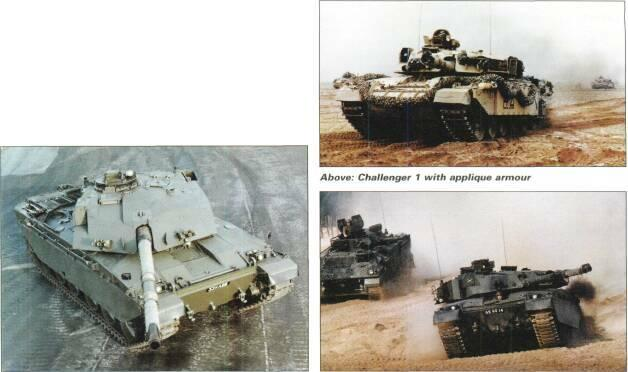 LIGHT TANKS AND MAIN BATTLE TANKS armour protection. Challenger Armoured Repair and Recovery Vehicle. Challenger Driver Training Tank, Challenger 1 with turret replaced by nonrotating turret.