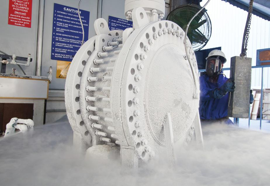 Cryogenic Valves L&T Valves manufactures a range of cryogenic and low temperature Tripleoffset Butterfly Valves that conforms