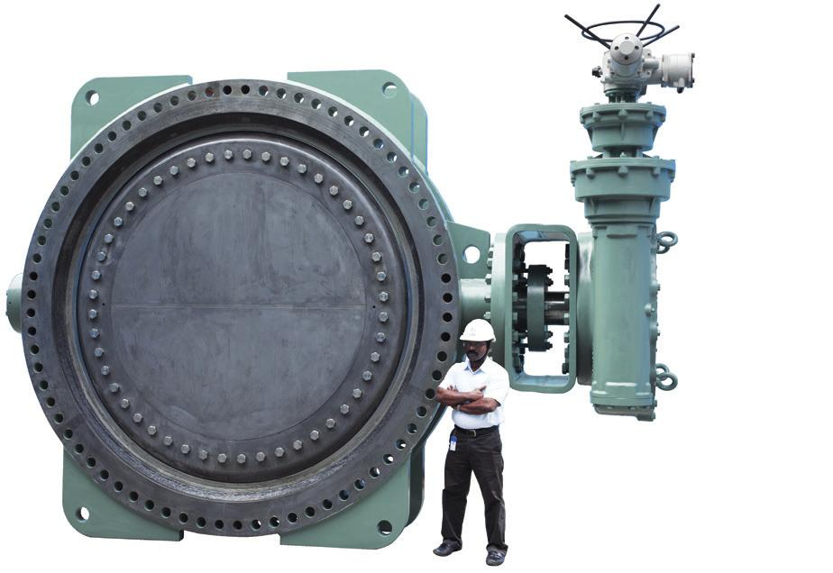Specials Fabricated Steel Triple-offset Butterfly Valves for Water L&T Valves, a pioneer in valves for water service, has introduced an innovation for the water industry - Fabricated Steel