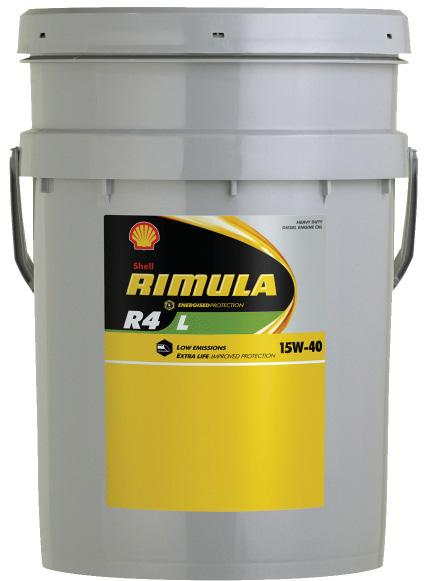 HEAVY DUTY DIESEL ENGINE OILS SHELL HEAVY DUTY DIESEL ENGINE OILS Shell Rimula R4 L 15W-40 Multigrade Heavy Duty Low SAPS Diesel Engine Oil Simplify Inventory Needs Shell Rimula R4 L can help reduce