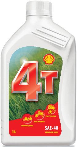 FARM EQUIPMENT OILS SHELL FARM EQUIPMENT OILS Shell 4T 30 Specially designed for 4 stroke lawn mowers and transmissions of 2 stroke motorcycles SAE 30.