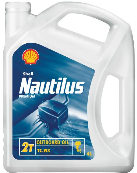 Shell Nautilus Premium Outboard Oil LEISURE MARINE OILS SHELL NAUTILUS OILS Two-stroke premium outboard oil Shell Nautilus Premium Outboard Oil is a high performance lubricant for the superior