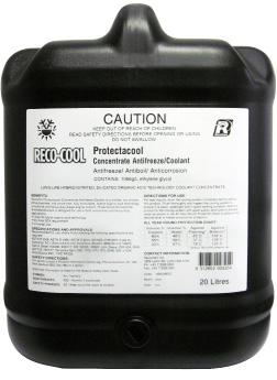 ENGINE COOLANTS ENGINE COOLANTS Reco-cool Protectacool Premium long life, fully formulated heavy duty ethylene glycol engine coolant (antifreeze) concentrate.