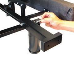 If the headboard brackets require adjustments, loosen the bolts that