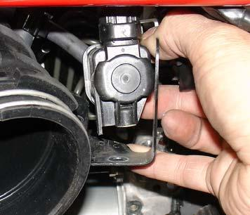 Figure 16 Loosen and remove the m5 bolt from