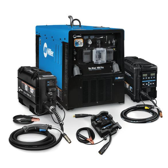 Big Blue 400 Pro ArcReach Additional Features ArcReach provides remote amperage and voltage control at the weld joint without needing a control cord.