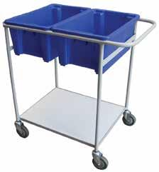 BIN MOBILE DOLLY - STEEL TOTE BIN TROLLEY Make your bins mobile Can be used to transport stacks of bins around