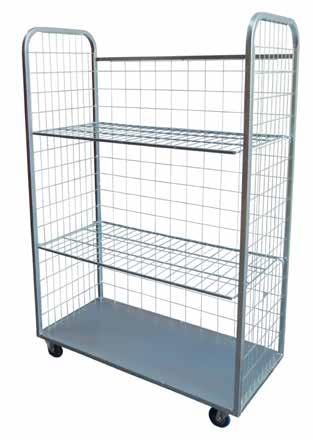DEXTERS CAGE TROLLEY Huge carrying capability Welded steel construction Zinc plated finish Smooth and easy to manoeuvre with four swivel 4 precision