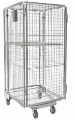 555mm W x 1800mm H 2 Adjustable Mesh Shelves CAGE TROLLEY COLLAPSIBLE GOODS TROLLEY NESTING CARGO CAGE TROLLEY General purpose goods trolley offers the