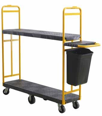 and durability Powder coated steel handles Additional shelf available to increase storage 1 TIER TROLLEY DESCRIPTION DIMENSIONS CAPACITY 43781071 43781072 43781073 Small Cart Large Cart Small