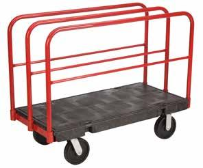 Polypropylene 1130kg PANEL PLATFORM TRUCK A FRAME PLATFORM TRUCK 1 TIER TROLLEY For transport of large sheets of timber or other bulky items Molded in steel under structure provides extra strength