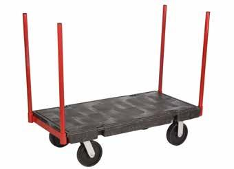 timber or other bulky items Molded in steel under structure provides extra strength and durability Molded plastic deck with powder coated steel frame Textured non-skid surface aids safe transporting