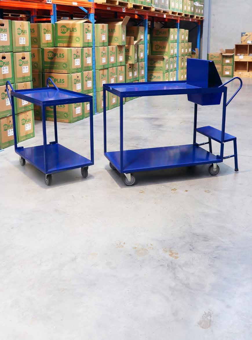 2 TIER ORDER PICKING TROLLEY Ideal for high frequency