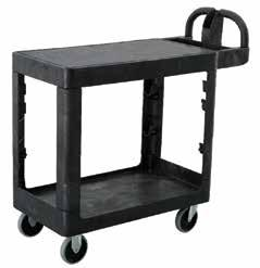 peel Storage compartments available for storage of small items & tools Comfortable handles for easy maneuverability PLATFORM SIZE WHEEL
