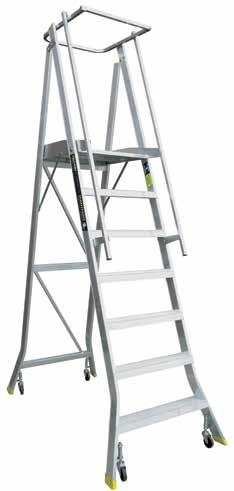 MULTI TIER TROLLEY ORDER PICKING LADDERS Dexters stock a large range of order picking ladders, ideal for high frequency stock picking