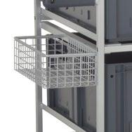 rotated 360 on the spot MULTIPICK TROLLEY Standard equipment: Frame made of square tubing.