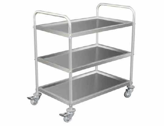 BASKET MAIL TROLLEY STAINLESS STEEL 3 TIER TROLLEY This trolley is designed for handling larger amounts of mail Powder coated steel construction It has two