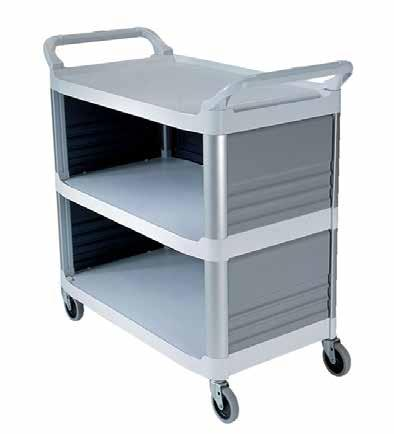 RUBBERMAID X-TRA UTILITY CART - 3 SIDES RUBBERMAID X-TRA UTILITY CART - 4 TIER Made of tough structural plastic for durability, UTILITY CART Made of tough structural plastic for durability, UTILITY
