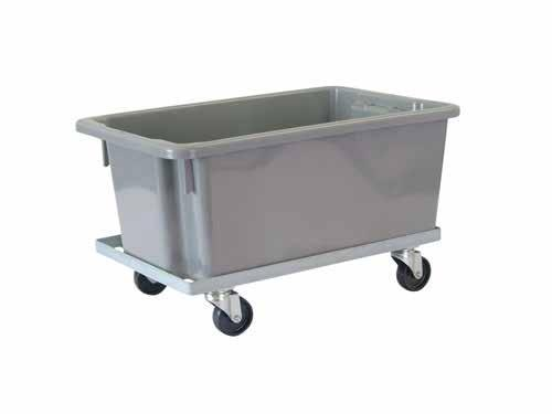 BIN MOBILE DOLLY - STEEL TOTE BIN TROLLEY Make your bins mobile BIN DOLLY BIN DOLLY Can be used to transport stacks of bins