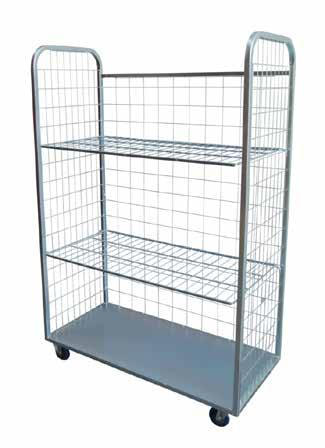 DEXTERS CAGE TROLLEY COLLAPSIBLE GOODS TROLLEY - 2 TIER Huge carrying capability Welded steel construction Zinc plated