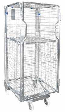 middle shelf Middle shelf folds out of the way for larger and bulkier loads Individual doors to each shelf for added security CAGE TROLLEY