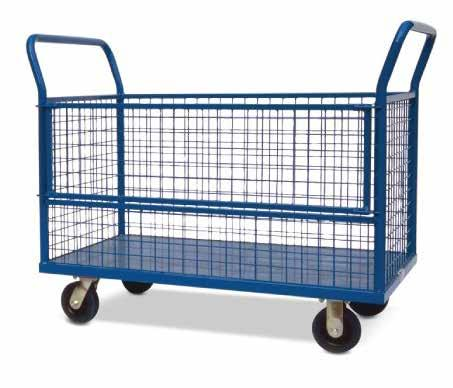 TROLLEY WITH MESH SIDES FOLDING LAUNDRY TROLLEY Welded steel construction Powder coated finish 5