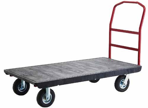 handles Steel frame under plastic anti-slip platform Tray Dimensions SMALL TRUCK LARGE TRUCK 43781006 43781007 610mm W x 1219mm L 720mm W x 1524mm L Tray Height 210mm