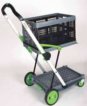 CLAX FOLDING CART FOLDING HAND CART - 90KG Foldable basket Lightweight aluminum frame Removable wheels Includes 1