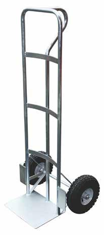 HEAVY DUTY STEEL HAND TRUCK EXTRA HEAVY DUTY HAND TRUCK Heavy duty Zinc plated steel construction Welded one-piece rimmed wheels Pneumatic