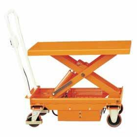 ELECTRIC MOBILE SCISSOR TABLE POWERLIFT MOBILE SCISSOR TROLLEY Lift heavy loads with ease Push button hydraulic lift and lower Large urethane castors for easy moving around Includes battery and