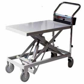 Lifting is made quick and easy with the quiet, clean battery-powered mechanism Platform Size SCISSOR LIFT TABLE 41551041 895mm L x 480mm W Max Table Height 950mm Suitable for office or the