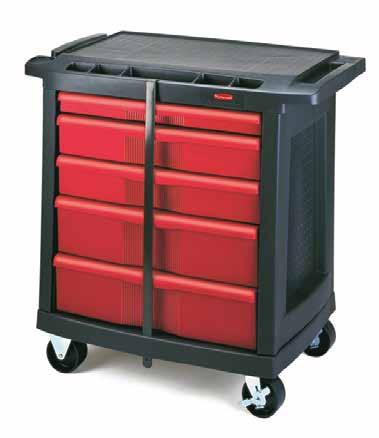 MOBILE HIGH-LIFT SCISSOR TABLE - 350KG 5 DRAWER MOBILE WORK CENTRE The table is elevated by a pump action