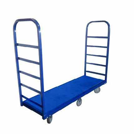 STOCK TROLLEY PIPE TROLLEY Heavy duty single level stock trolley Powder coated steel framework