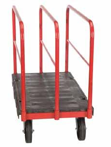 under structure provides extra strength and durability Molded plastic deck with powder coated steel frame Tray Dimensions Castors A FRAME TROLLEY 43781008 610mm