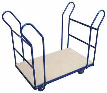 DEXTERS KITSET TROLLEY ALUMINIUM PLATFORM TROLLEY These vertical handles are seriously ergonomic.
