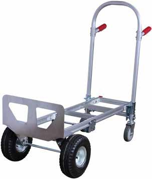 2 IN 1 FOLDING HAND TRUCK HEAVY DUTY FLAT DECK TROLLEY No Sides With Sides Heavy-duty hand truck switches from a