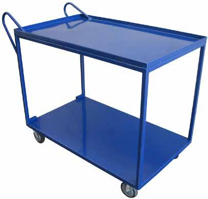 2 TIER ORDER PICKING TROLLEY UTILITY CART RECESSED SHELF Clip on Bins, 30L & 15L Sliding Drawer Ideal for high frequency