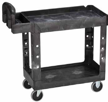 vertical handles, means your hands aren t twisted Comes fully assembled Tray Dimensions Tray Height Castors SMALL TROLLEY