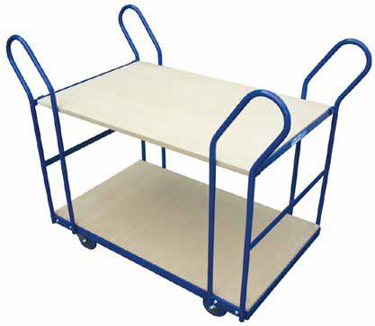 DEXTERS KITSET 2 TIER TROLLEY ORDER PICKING TROLLEY WITH STEP The removable top shelf is very handy. If you ve got some big parcels to move around, simply take it off!