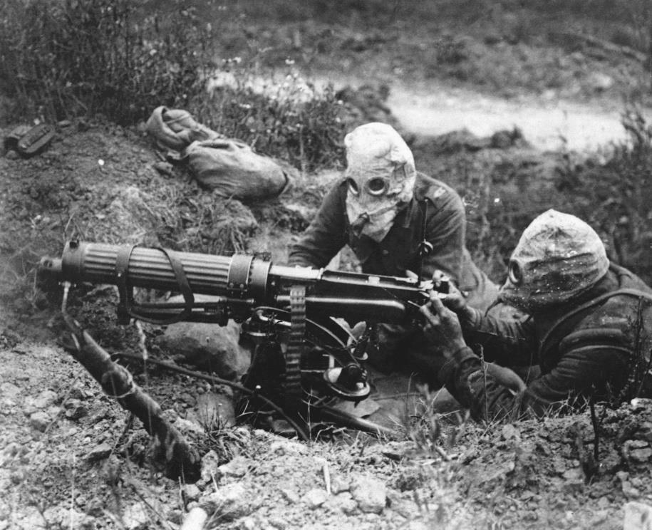 Machine Guns Firing several hundred bullets per minute, machine-guns were devastating weapons, especially when used against enemy troops on open ground.