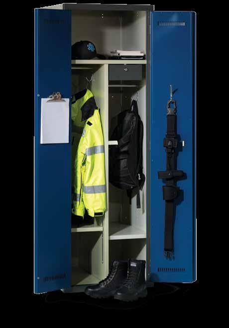 Police & Crew Series Lockers These cabinets are designed exclusively to accommodate the