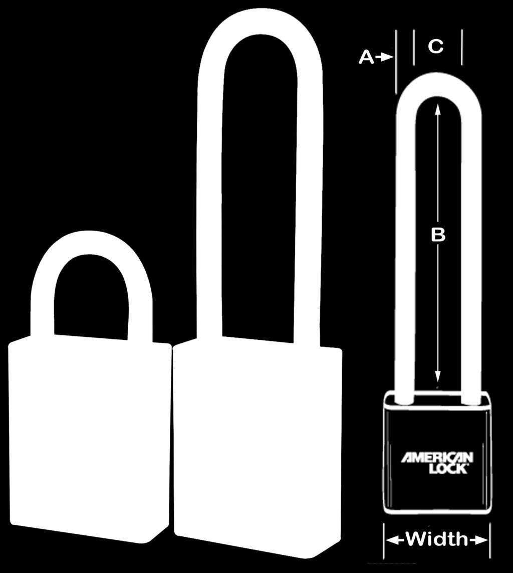 cylinder A1105 B = 1 A1107 B = 3 Solid Brass Padlocks Solid brass bodies resist corrosion ideal for harsh environments Hardened boron alloy shackles for superior cut resistance 5 & 6-pin cylinders