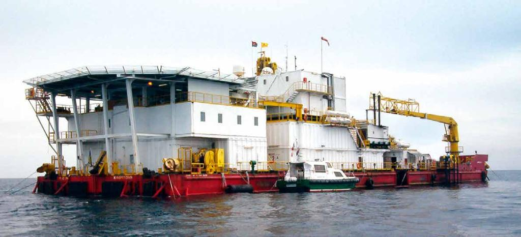 JASCON 9 ACCOMMODATION BARGE Generator sets Emergency gen set mooring system 8-pnt mooring system Capstans 85.00 m 22
