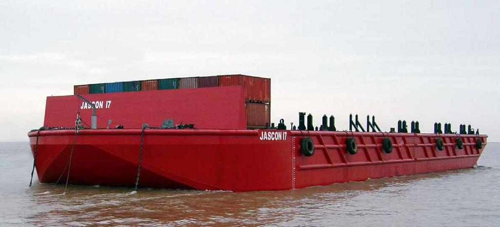 JASCON 17 / 17A OFFSHORE CARGO BARGEs Deadweight tonnage GRT NRT 87.87 m 30.48 m 6.