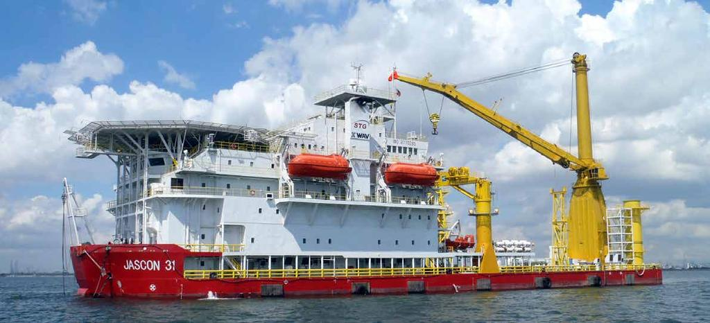 JASCON 31 CONSTRUCTION ACCOMMODATION vessel, DPS-3 / thrusters Generator sets Portable generator set Thrusters Bow thruster positioning system dps-3 111.00 m 30.48 m 6.71 m 4.