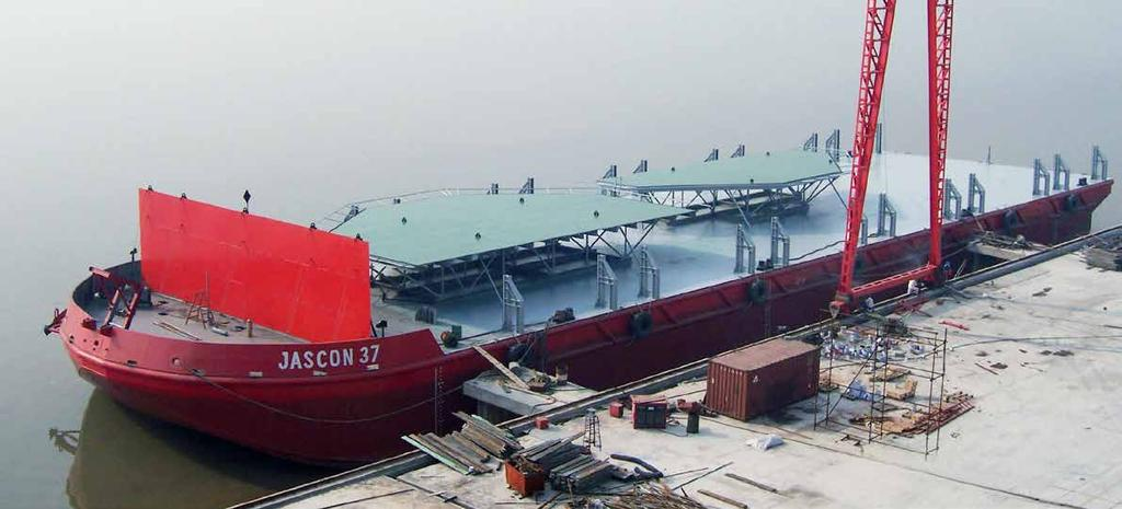JASCON 37 OFFSHORE cargo BARGE Deadweight Generator sets 91.50 m 24.40 m 5.50 m 4.