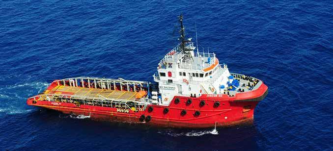 JASCON 40 5500 HP AHTS VESSEL, DPS-1 Propulsion engines Generator sets Bow thrusters Emergency generator performance Speed Bollard pull dynamic positioning 57.50 m 13.80 m 5.50 m 4.